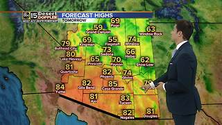 Cooler temperatures, clouds moving in Valley - Video