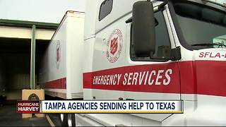 Tampa agencies sending help to Texas on Monday - Video
