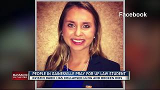 People in Gainesville pray for UF law student - Video
