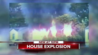 House explosion sparks massive fire - Video