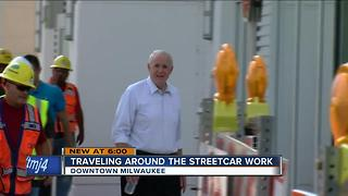 Streetcar project causes traffic headaches