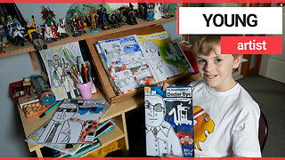 Ten-year-old comic book fan sells his creations around the world