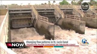 Changing flow patterns in St. Lucie canal prompting concerns on Treasure Coast - Video