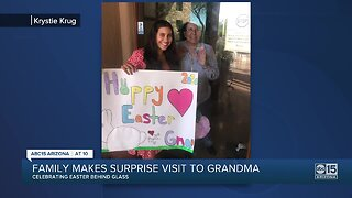 Valley family makes surprise visit to grandma for Easter