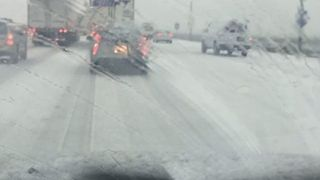 Sacramento Highways Turned to Slush After Hail Storm - Video
