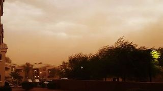 Monsoon Storm Downs Power Lines in Phoenix, Arizona - Video