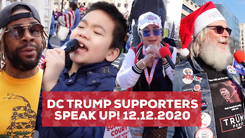 Washington DC Trump Supporters Speak Up! Stop The Steal, 12.12.2020