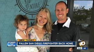 Firefighter killed in Thomas Fire hailed as hero from Ventura to San Diego - Video