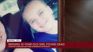 Missing Baraboo girl found dead; AMBER Alert canceled