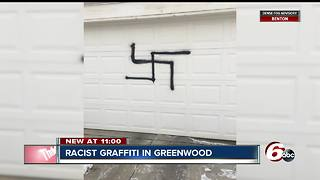 Vandals paint swastika, male genitalia on Greenwood homes - Video