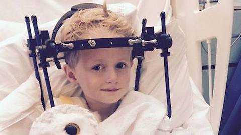 Boy in Neckbrace Recovers From Neck Injury Doctors Said Was Whiplash