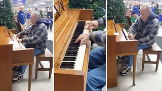 Elderly Man Astonishes Shoppers With Incredible Piano Playing