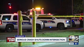 Serious crash shuts down intersection