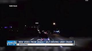 Tempe Police release footage of self-driving Uber crash - Video