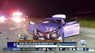 Several people hurt after head-on crash in Riviera Beach - Video