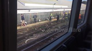 Parsons Green passengers evacuated from tube - Video