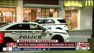 Tulsa Police investigating string of armed robberies overnight
