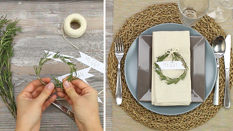 DIY Rosemary place cards