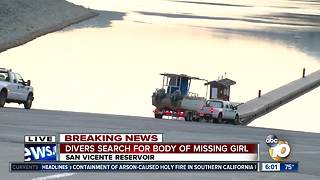 Divers search for girl in San Vicente Reservoir - Video