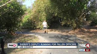 Sheriff's Deputy running almost 400 miles for fallen officers - Video