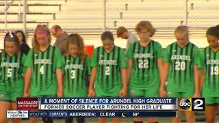 A moment for silence for Arundel High graduate - Video
