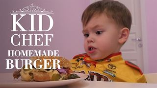 Kid chef: How (not) to make American burgers - Video