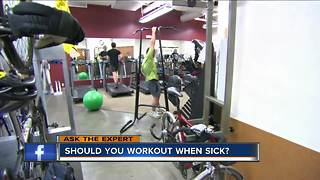 Ask the Expert: Working out with the flu - Video