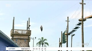Zip-lining at Gator Mike's in Cape Coral