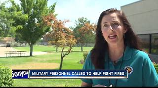 Military personnel to help fight fires across the states