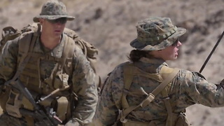 First Woman Graduate Of Marine Corps Infantry Course - Video