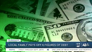 Local family pays off six figures of debt