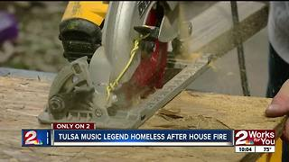 Tulsa music legend's house destroyed by fire - Video