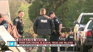 Police in Austin tell residents not to open packages after 1 killed, 2 injured in explosions - Video
