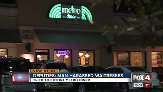 Deputies: Man harassed waitresses - Video