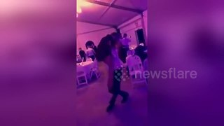 Couple fall into table during Dirty Dancing choreography attempt