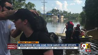 Volunteers return home from Harvey relief efforts - Video