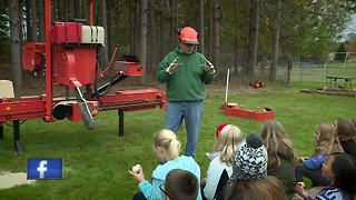 Log-a-Load program educates 4th grade students outdoors - Video