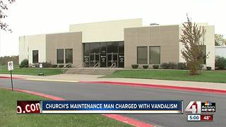 Church maintenance man charged with arson - Video