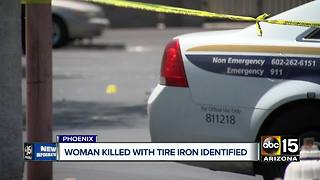 Woman killed with tire iron in Phoenix identified