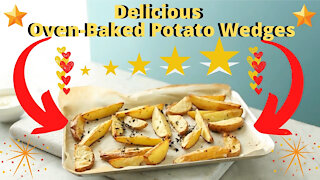 How to make oven-baked potato wedges