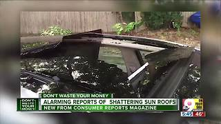 Beware shattering car sunroofs - Video