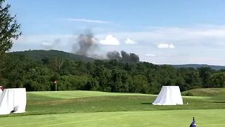 State Police Helicopter Crashes Near Charlottesville Golf Course - Video
