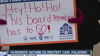 Protesters call for resignation or removal of Carl Paladino - Video