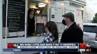 Mobile coffee shop with specialty drinks comes to Bakersfield, serving healthcare workers