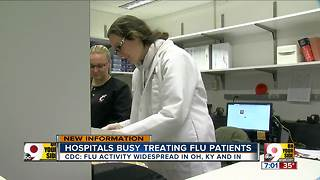 Hospitals busy treating flu patients - Video