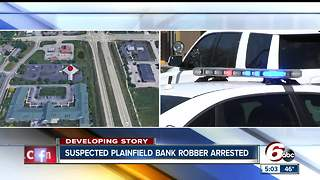 Plainfield bank robbery suspect captured - Video