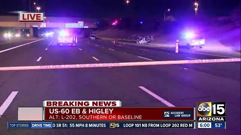 Deadly hit-and-run at US-60 eastbound at Higley