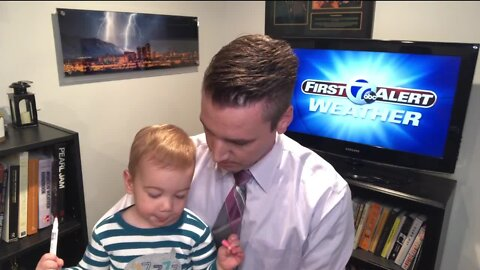 Baby Jeanes makes guest appearance 7 Action News This Morning