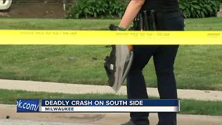 Deadly crash on Milwaukee's South Side