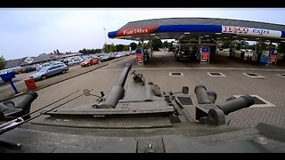 Guy Takes a Tank to His Local Petrol Station - Video